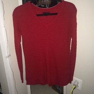 NWOT american eagle red sweater XS